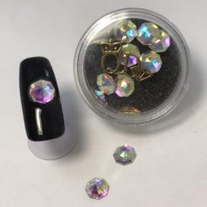 #9 Octagonal shape nail-art-crystal-K9