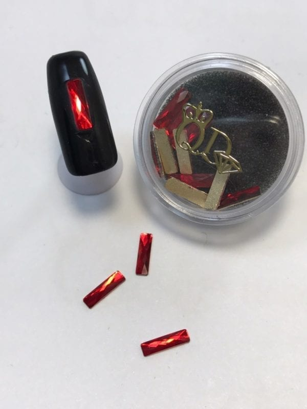 #20 Ruby Rectangular nail-art-crystal-K9