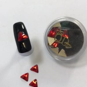 #22 Ruby Triangle nail-art-crystal-K9