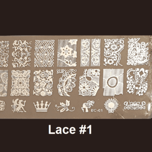 Stamping Plate Lace #01