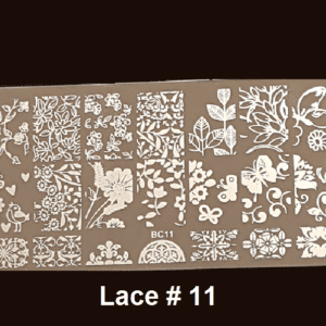 Stamping Plate Lace #11