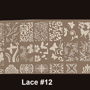 Stamping Plate Lace #12