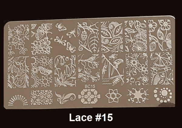 Stamping Plate Lace #15