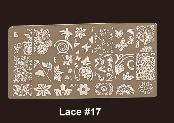 Stamping Plate Lace #17