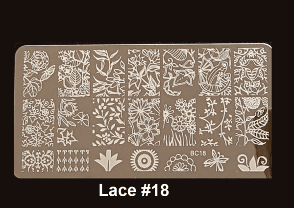 Stamping Plate Lace #18