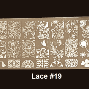 Stamping Plate Lace #19