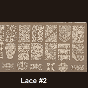 Stamping Plate Lace #02