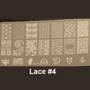 Stamping Plate Lace #04