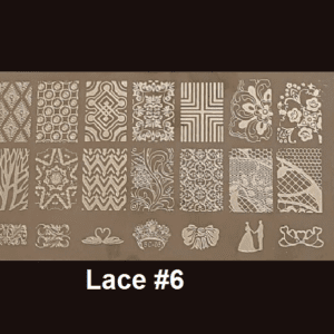 Stamping Plate Lace #06