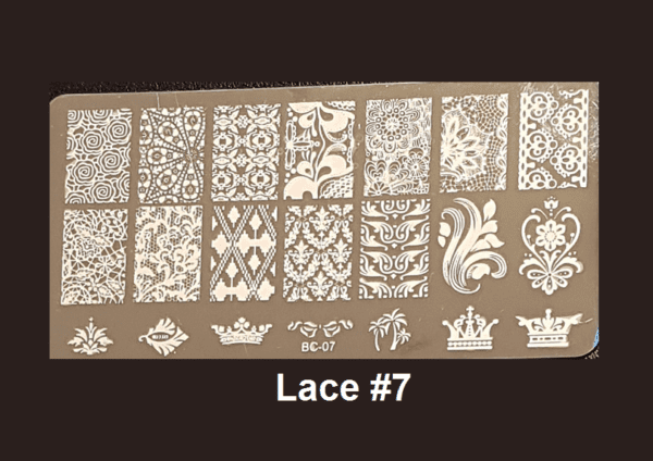 Stamping Plate Lace #07