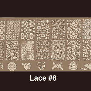 Stamping Plate Lace #08