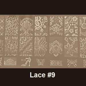 Stamping Plate Lace #09