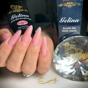 Acrylic/Gel Blue Glide Liquid smells like gorgeous soap, clean and delightful. Use in conjunction with Gelina acrylic gel to perfectly sculpt overlays and fills.