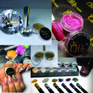 Nail Art powders, glitters, sugars