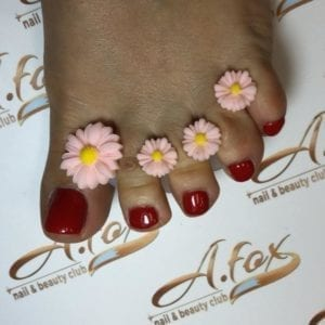 Pink flower 8pc toe separator
