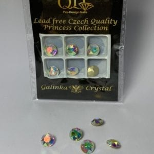 005 8mm Galinka Crystal 6pc Round AB