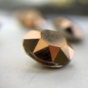 006 8mm Galinka Crystal 6pc Round Rose Gold