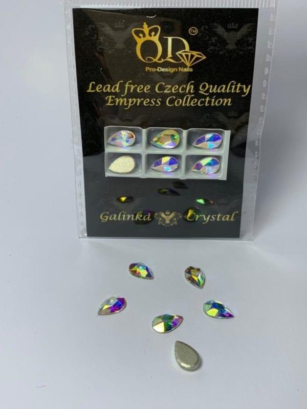 #03 7x10mm Flatback-Galinka-Crystal 6pc-drop AB