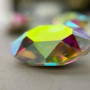 1 10x14mm Galinka Crystal 6pc Oval AB