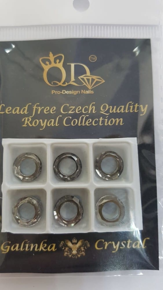 4 8mm Galinka Crystal Ring 6pc Silver Swan
