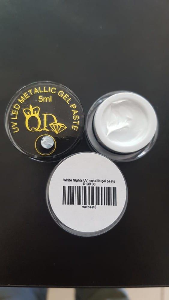 8 White Nights UV LED Metallic Gel Paste