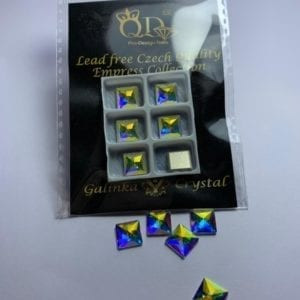 01 8mm Galinka Crystal 6pc Square AB