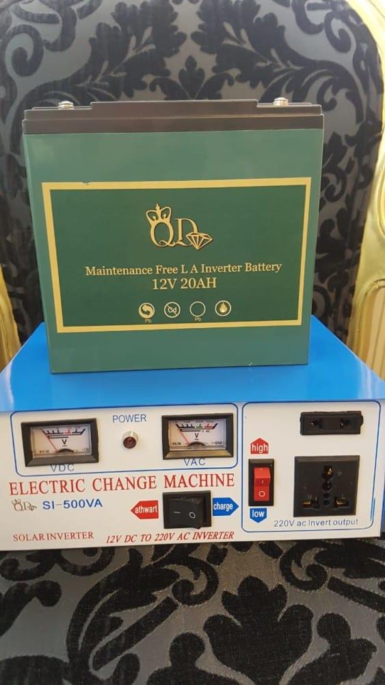 QD Nail Techs Inverter and Battery.