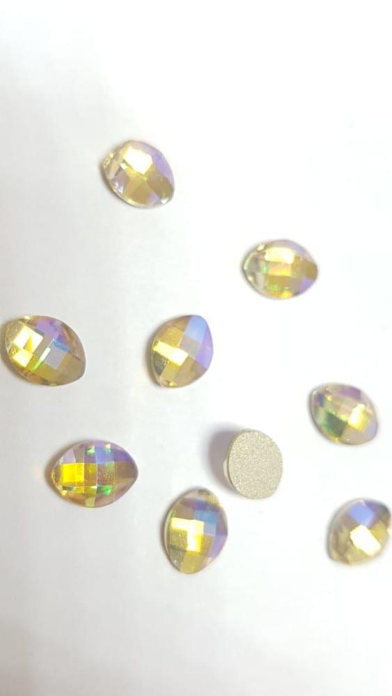#26 Leaf nail-art-crystal-K9