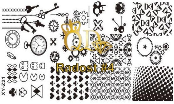 Stamping Plate Radost R4