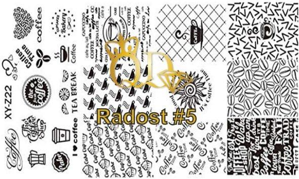 Stamping plate radost R5