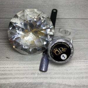 Lilac holo glitter powder
