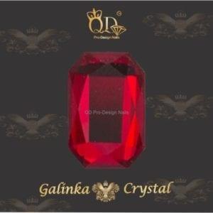 #06 6x8mm Flatback-Galinka-Crystal 6pc-Octagon-Red-Ruby