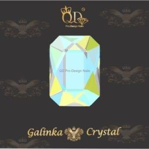 #07 6x8mm Flatback-Galinka-Crystal 6pc-Octagon-Peridot