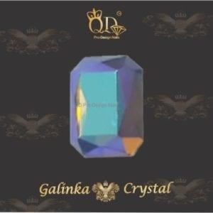 #09 6x8mm Flatback-Galinka-Crystal 6pc-Octagon-Unicorn