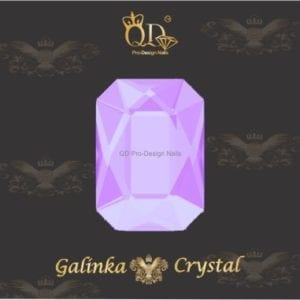 #10 6x8mm Flatback-Galinka-Crystal 6pc-Octagon-Clear-Lilac