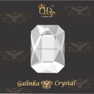 #11 6x8mm Flatback-Galinka-Crystal 6pc-Octagon-Crystal-Clear