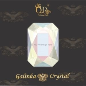 #12 6x8mm Flatback-Galinka-Crystal 6pc-Octagon-AB