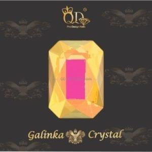 #14 6x8mm Flatback-Galinka-Crystal 6pc-Octagon-Pink
