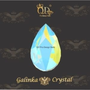 #17 5x8mm Flatback-Galinka-Crystal 6pc-Drop-Peridot