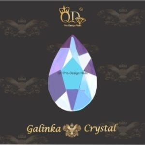 #19 5x8mm Flatback-Galinka-Crystal 6pc-Drop-Unicorn