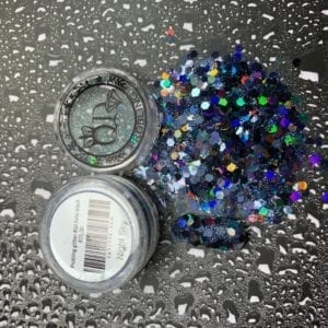 Probling glitter #10-Night-Sky-black-holo-mixed