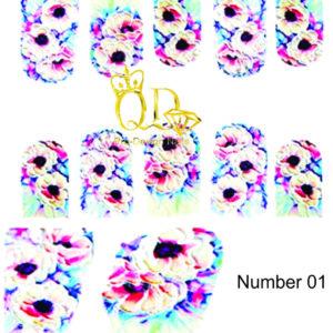 1 5D Nail-Art Sticker