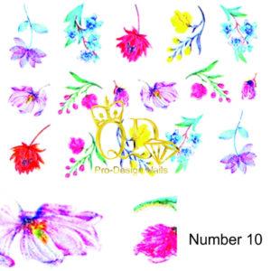 10 5D Nail Art Sticker