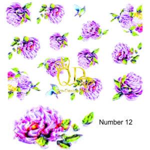 12 5D Nail Art Sticker