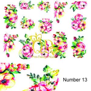 13 5D Nail Art Sticker