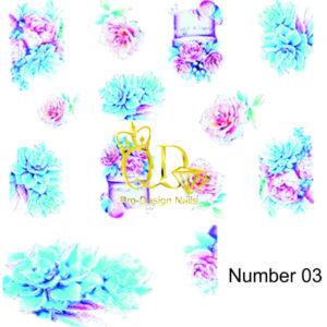 2 5D Nail Art Sticker