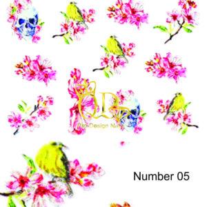 5 5D Nail Art Sticker
