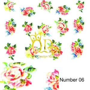 6 5D Nail Art Sticker