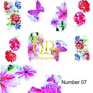 7 5D Nail Art Sticker