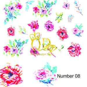 8 5D Nail Art Sticker